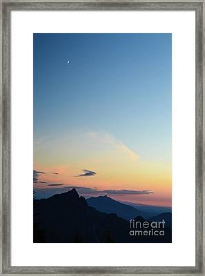 Pilchuck Sunset Framed Print