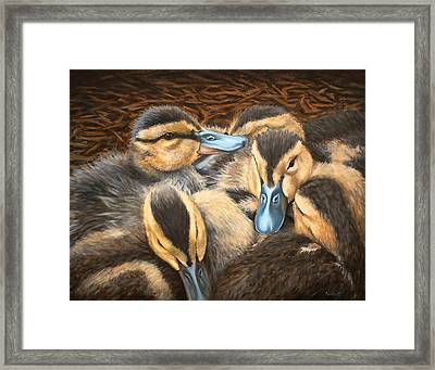 Pile O' Ducklings Framed Print