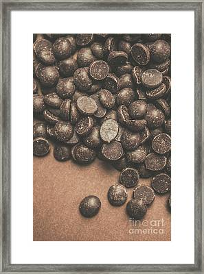 Pile Of Chocolate Chip Chunks Framed Print by Jorgo Photography - Wall Art Gallery