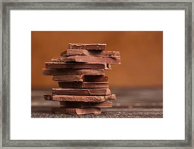 Pile Of Dark Chocolate  Framed Print by Vadim Goodwill