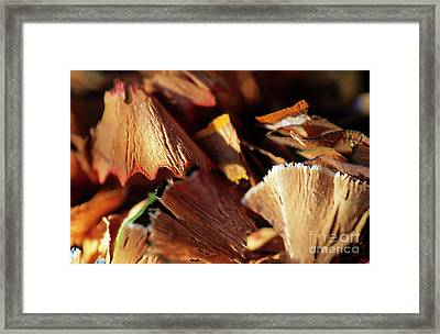 Pile Of Discarded Pencil Shavings Framed Print by Sami Sarkis