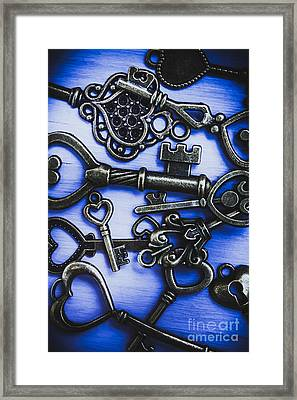 Pile Of Heart Shaped Keys Framed Print by Jorgo Photography - Wall Art Gallery