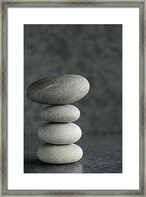 Pile Of Pebbles II Framed Print by Marco Oliveira