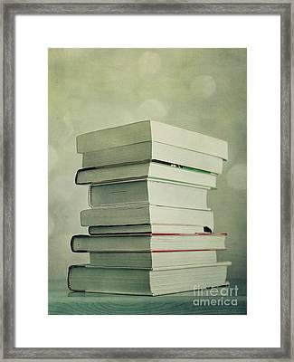 Piled Reading Matter Framed Print