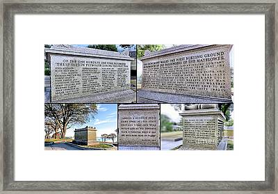 Pilgrim Sarcophagus Collage Framed Print by Janice Drew
