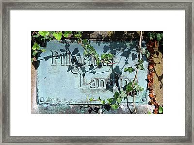 Pilgrims Landing Framed Print