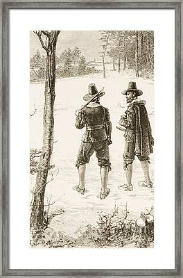 Pilgrims Framed Print by Reverend Samuel Manning