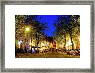Framed Print featuring the photograph Pilies Street by Fabrizio Troiani