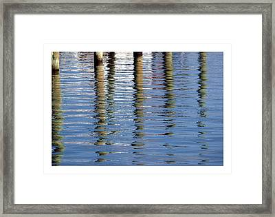 Framed Print featuring the photograph Pilings Beaufort Nc by Phil Mancuso
