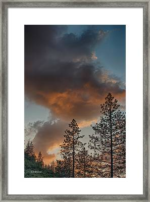 Pillar Of Fire Framed Print
