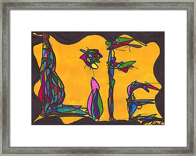 Pillar Of Life Framed Print by Darrell Black