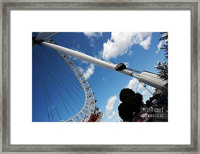 Pillar Of London S Ferris Wheel  Framed Print
