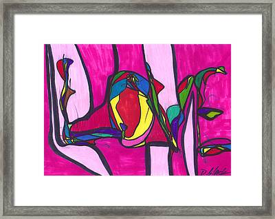 Pillar Of Love Framed Print by Darrell Black