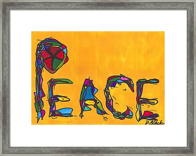 Pillar Of Peace Framed Print by Darrell Black