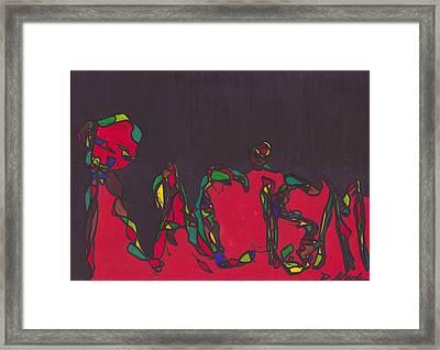 Pillar Of Racism Framed Print by Darrell Black