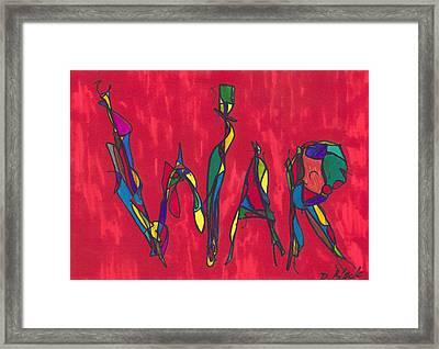 Pillar Of War Framed Print by Darrell Black