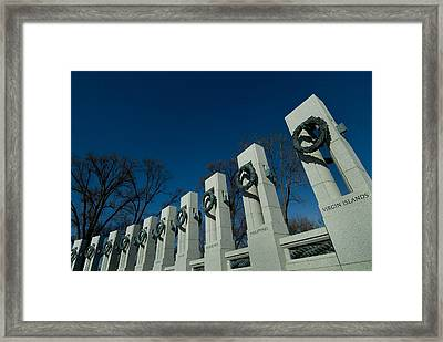 Pillars Adorned With Bronze Wreaths Framed Print by Todd Gipstein
