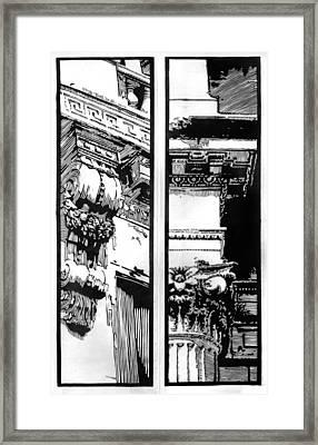 Pillars Framed Print by Alexis Mackay