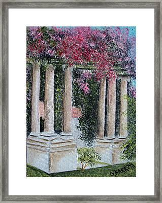 Pillars In The Garden Framed Print