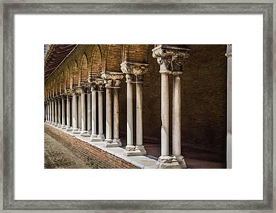 Pillars Insde Eglise Des Jacobins Or Church Of The Jacobins Framed Print