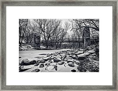 Pillars On The Shore Framed Print by CJ Schmit