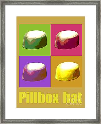 Framed Print featuring the digital art Pillbox Hat by Jean luc Comperat
