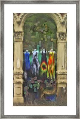 Framed Print featuring the digital art Piller Dresses by Dale Stillman