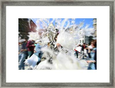 Pillow Fight Framed Print