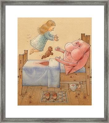 Pillow Framed Print by Kestutis Kasparavicius
