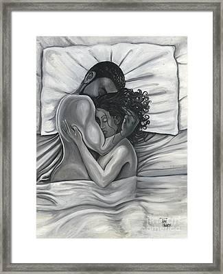 Pillow Talk Framed Print by Toni  Thorne