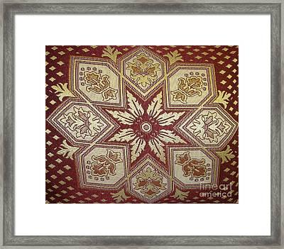 Pillows Of Agadir - Moroccan Red Framed Print by Maria Bonnier-Perez