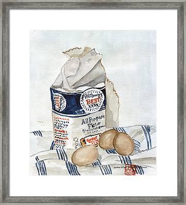 Pillsbury Flour And Brown Eggs Framed Print