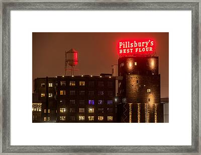 Pillsburys Best Flour Sign Framed Print