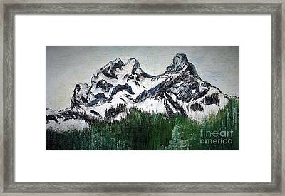 Pilot And Co-pilot Mountain Framed Print