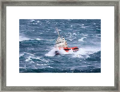 Pilot Boat Framed Print by Ingi T. Bjornsson