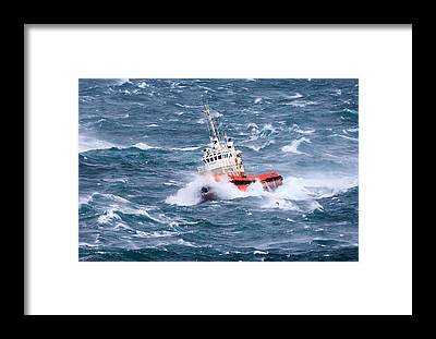 Tugboat Framed Prints