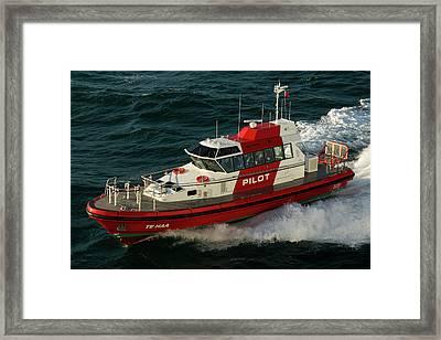 Pilot Boat Wellington Framed Print