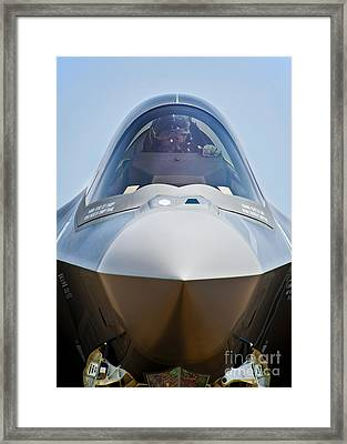 Pilot In The Cockpit Of A U.s. Air Framed Print by Stocktrek Images
