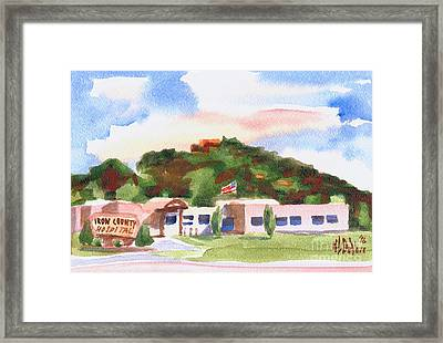 Framed Print featuring the painting Pilot Knob Mountain W401  by Kip DeVore