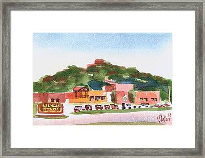 Framed Print featuring the painting Pilot Knob Mountain W402 by Kip DeVore