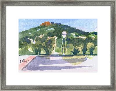 Framed Print featuring the painting Pilot Knob Mountain W404 by Kip DeVore