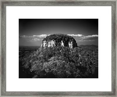 Pilot Mountain Back And White Framed Print