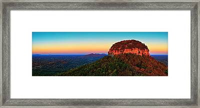 Pilot Mountain  Framed Print by Emmanuel Panagiotakis
