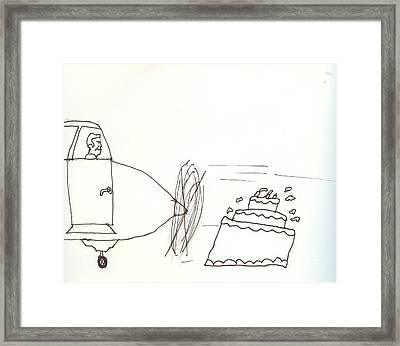 Pilots Lounge Birthday Image Framed Print