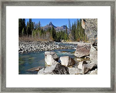 Pilots Peak And Clark Fork 3 Framed Print