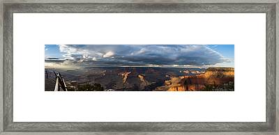 Framed Print featuring the photograph Pima Point Panorama by Beverly Parks