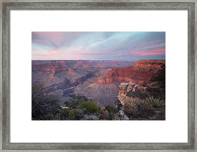 Pima Point Sunset Framed Print