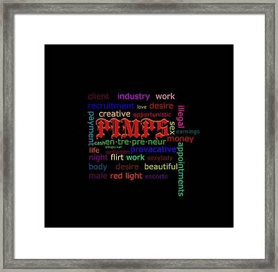 Pimps Framed Print by Lynda Payton