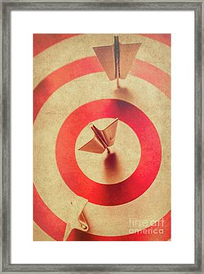 Pin Plane Darts Hitting Goals Framed Print by Jorgo Photography - Wall Art Gallery