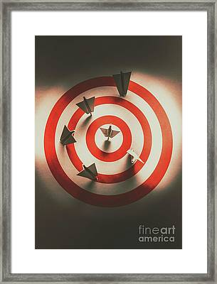 Pin Point Your Target Audience Framed Print